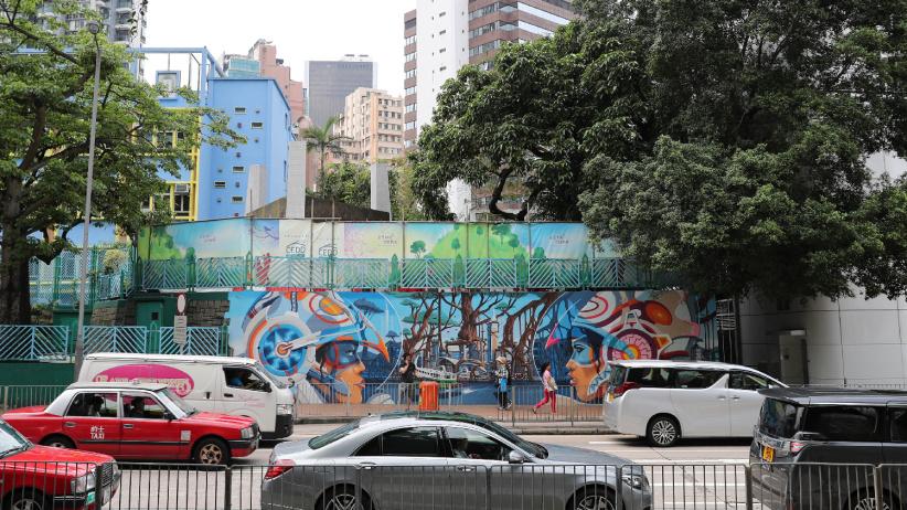 """香港街頭涂鴉:""""混搭""""的城市風景"""
