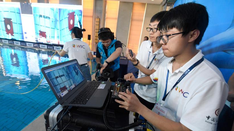 2019世界智能水下机器人挑战赛在天津举行