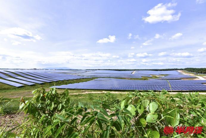 吉隆坡吉打州Kuala Ketil太阳能光伏电站。(照片由中广核提供)