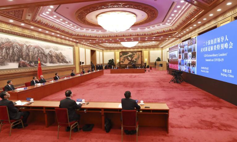 """首次G20领导人""""云会议""""习近平怎么说"""
