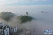 貴州福泉出現平流霧景觀